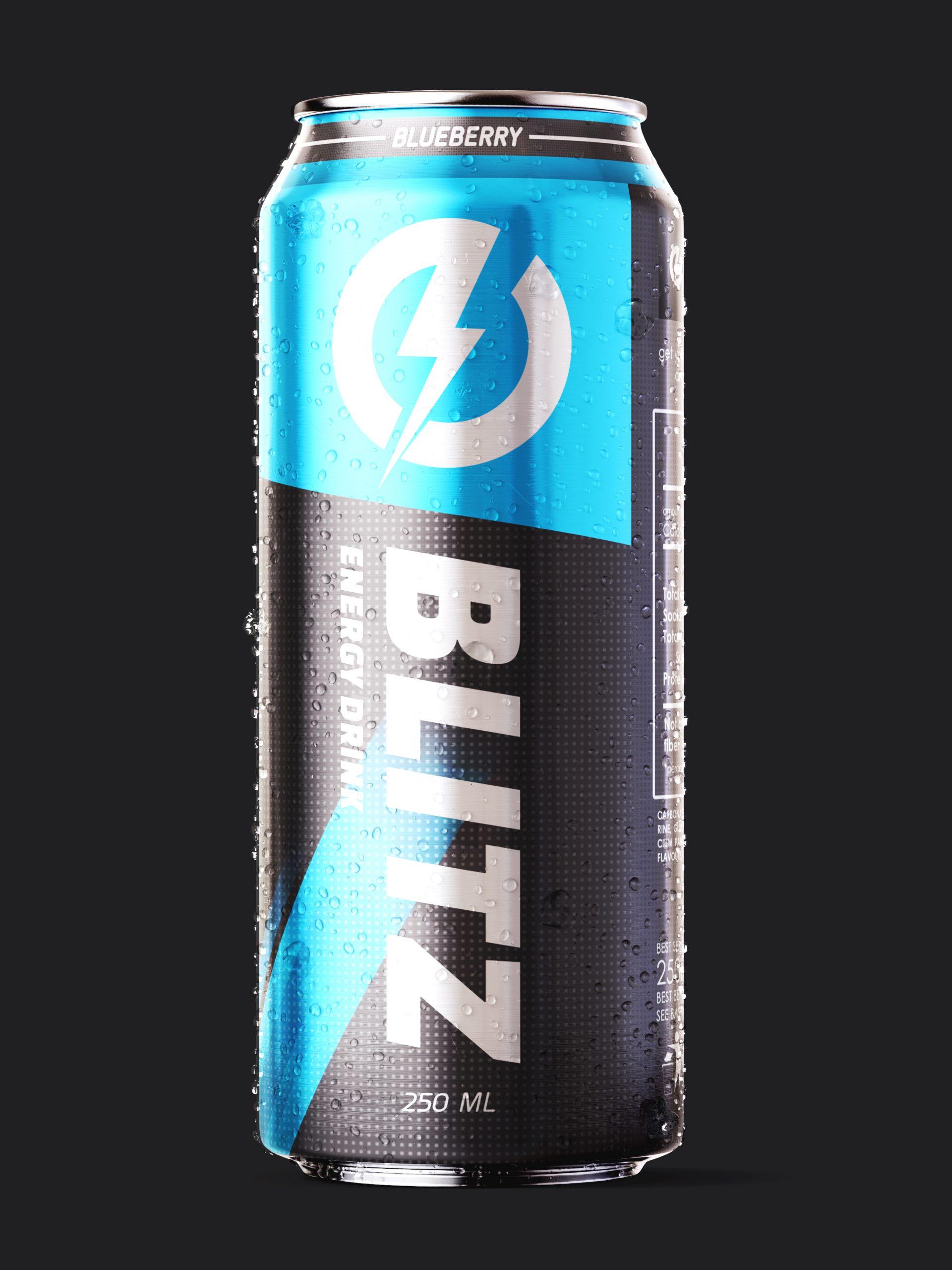 Blitz can blue